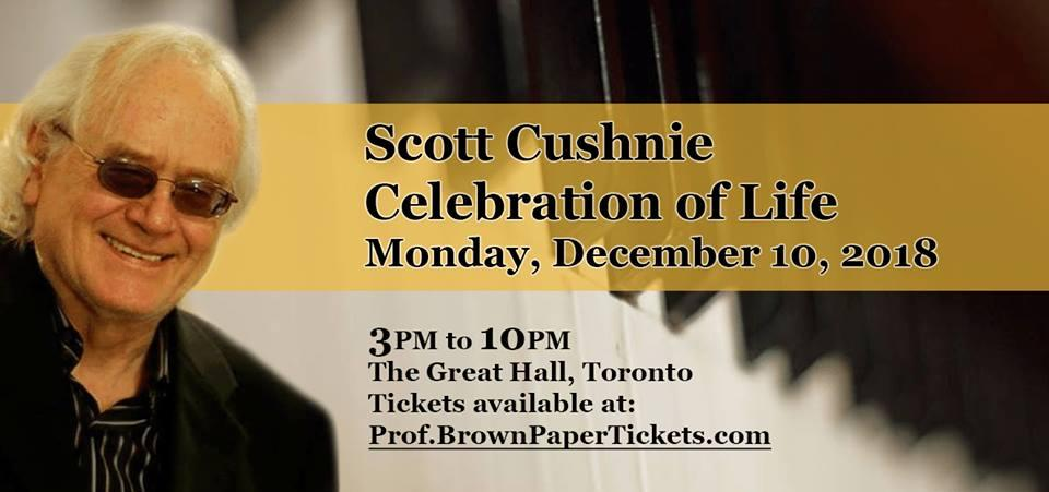 A Musical Celebration of Life Planned to Honour Scott 'Professor Piano' Cushnie