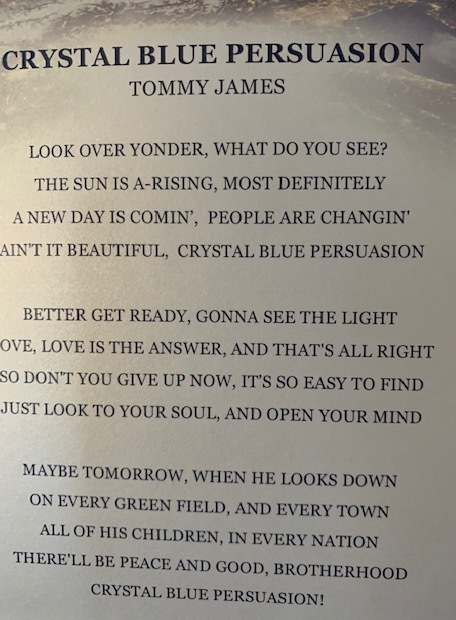 Crystal Blue Persuasion Lyrics