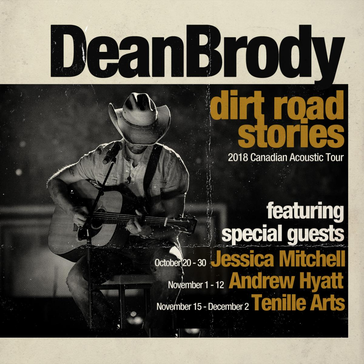 Dean Brody Heads out on the Dirt Road Stories Tour