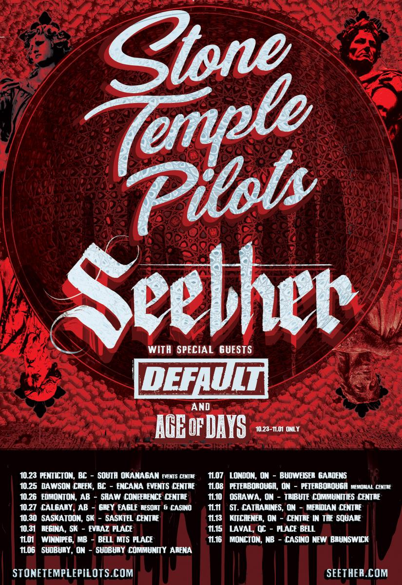 Stone Temple Pilots And Seether Announce Co-Headline Tour In Canada