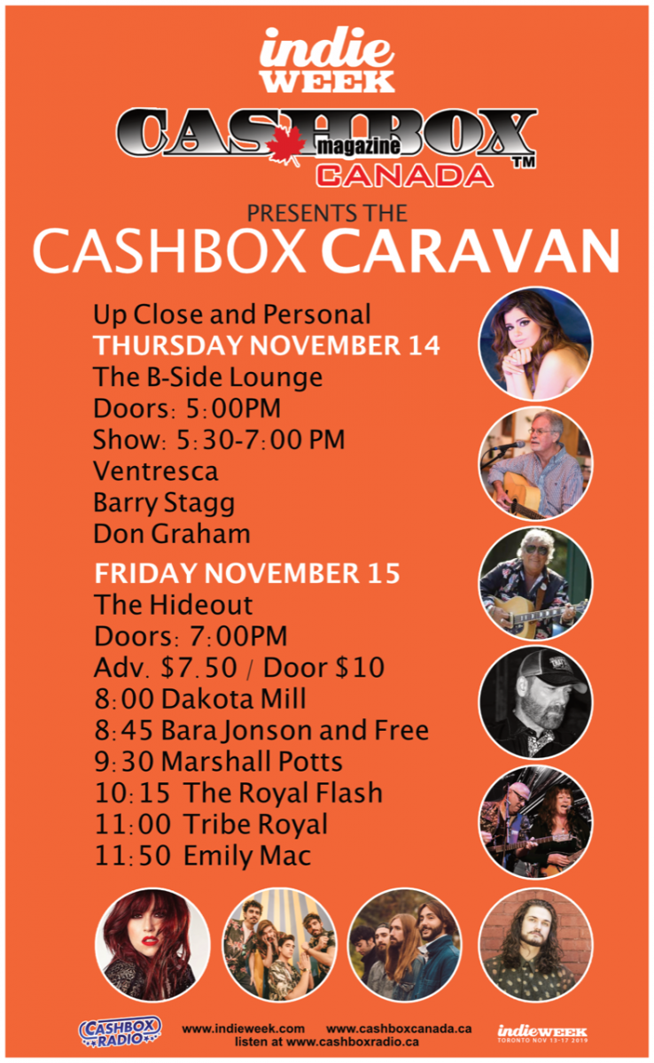 Cashbox Canada Magazine Hosts Two Showcases at Indie Week 2019